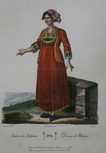 costume femminile di Nettuno 1840