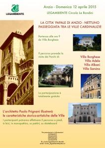 passeggiata Ville cardinalizie Anzio 12 aprile 2015 Legambiente